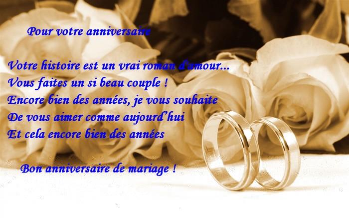 Phrase pour un anniversaire de mariage