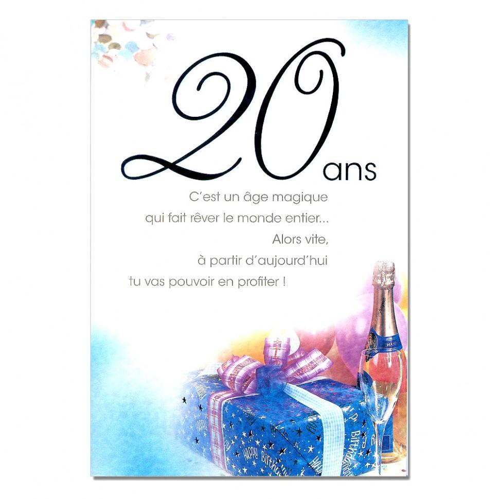Carte anniversaire 20 ans de mariage gratuite à imprimer