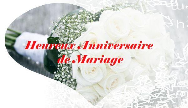 Voeux pour un anniversaire de mariage