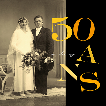 Cartes invitation anniversaire de mariage 50 ans
