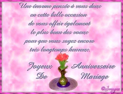 Voeux d anniversaire de mariage
