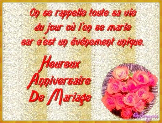 Message d anniversaire de mariage