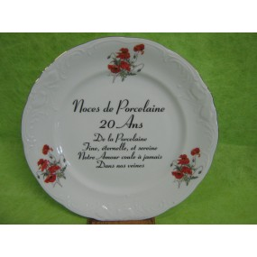 Anniversaire de mariage noces de porcelaine