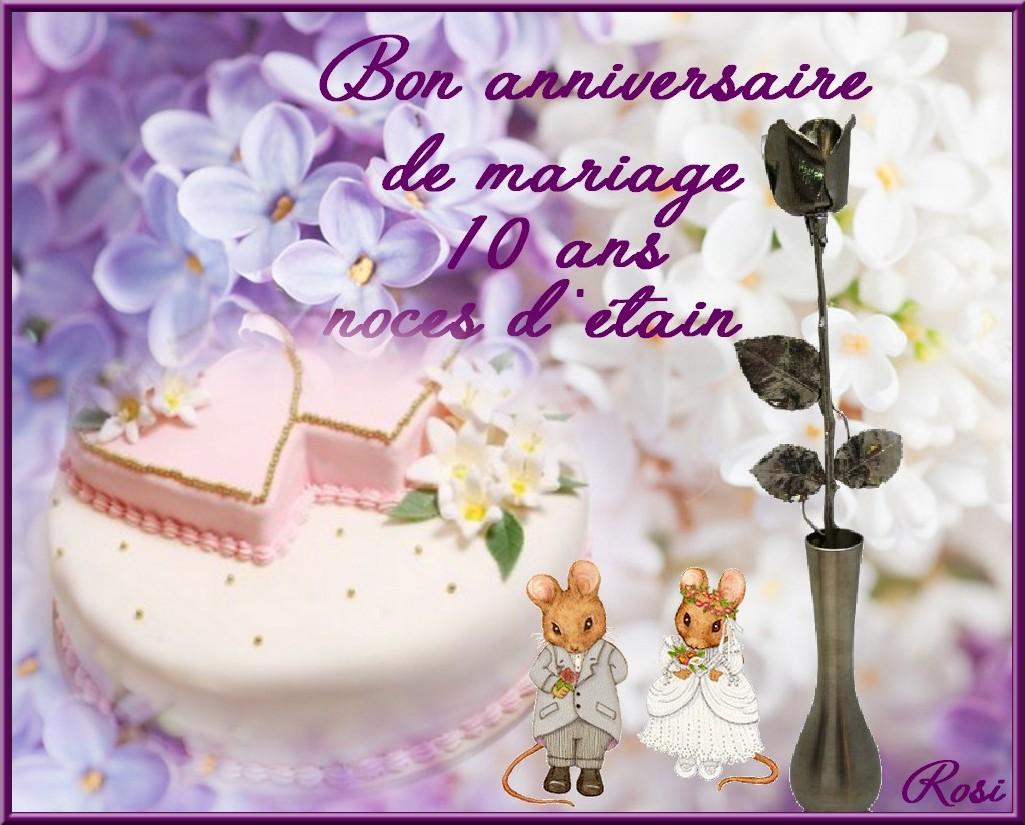 Bon anniversaire de mariage
