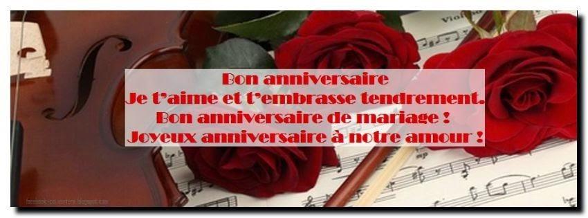 Message d'amour anniversaire de mariage