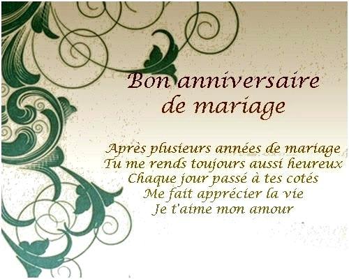 Carte anniversaire de mariage a imprimer