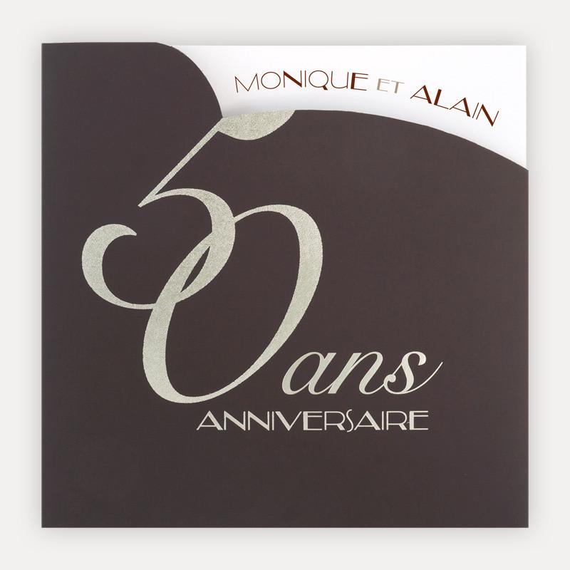 Carte anniversaire de mariage 50 ans a imprimer gratuitement