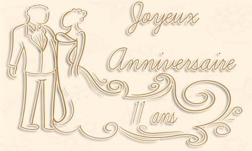 Anniversaire de mariage 11ans
