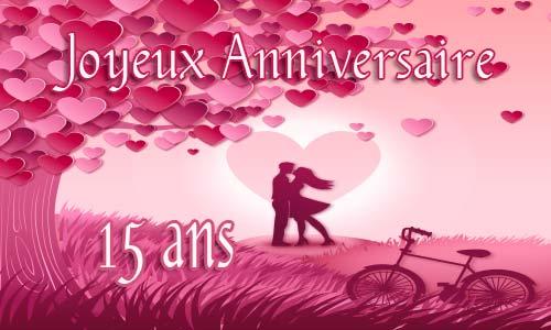 Carte anniversaire de mariage 15 ans gratuit