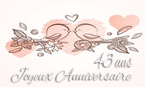 Joyeux anniversaire de mariage 43 ans