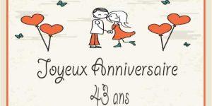 Carte anniversaire de mariage 49 ans