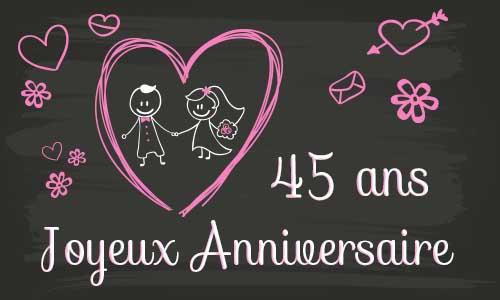 Anniversaire 45 ans de mariage