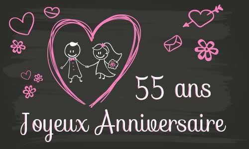 Joyeux anniversaire de mariage 55 ans