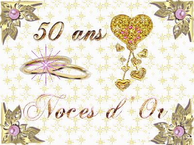 Carte anniversaire de mariage 50 ans à imprimer gratuitement