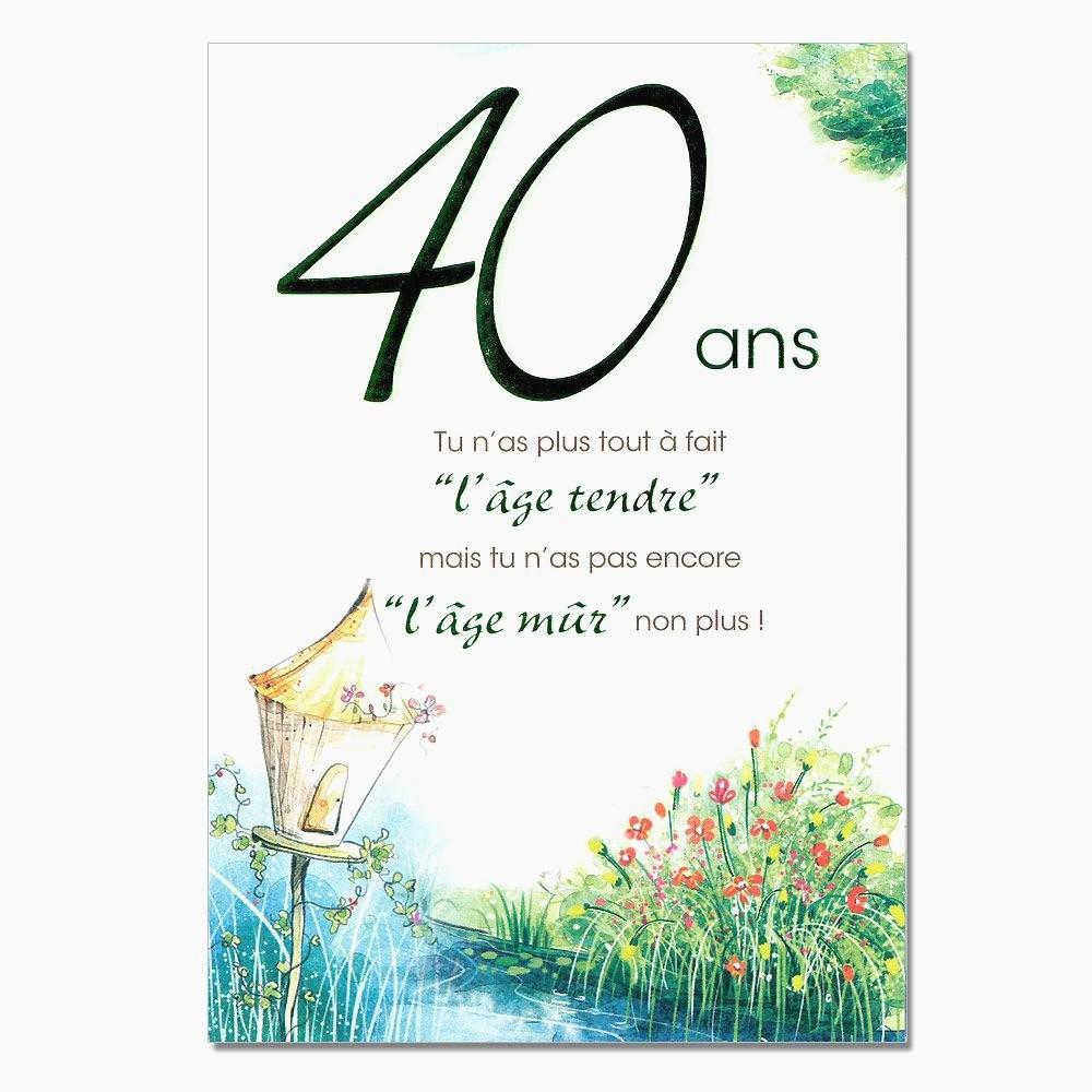Anniversaire 40 ans de mariage