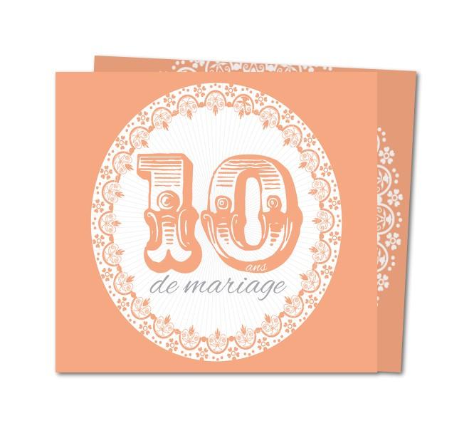 Exemple invitation anniversaire de mariage