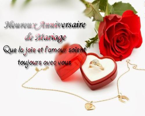 Un message pour un anniversaire de mariage