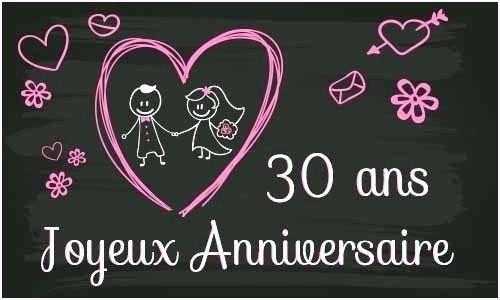 30 anniversaire de mariage