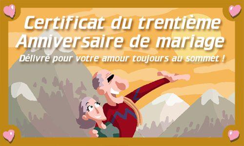 Cybercartes gratuites anniversaire de mariage