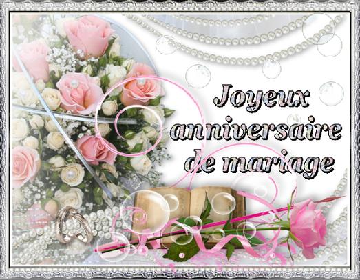 Bon anniversaire de mariage à vous deux