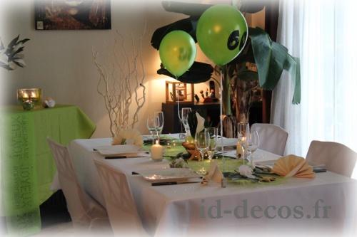 Deco de table pour anniversaire de mariage 60 ans