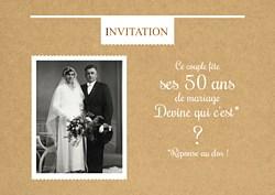 Invitation anniversaire de mariage 60 ans