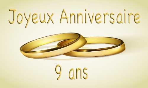 Joyeux anniversaire de mariage 9 ans