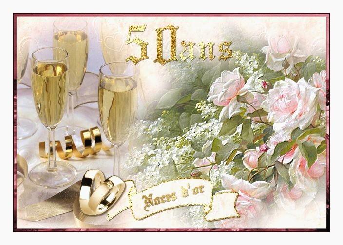 Félicitations anniversaire 50 ans de mariage