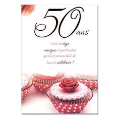 Carte d anniversaire 50 ans de mariage
