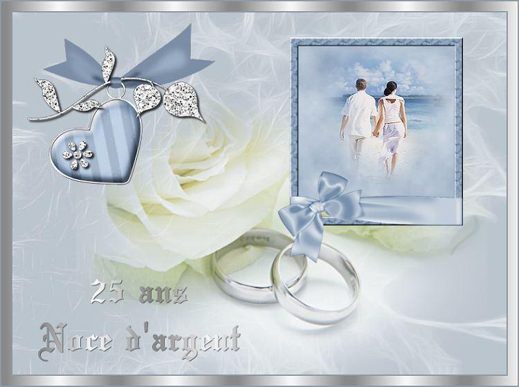 Anniversaire de mariage noce d'argent