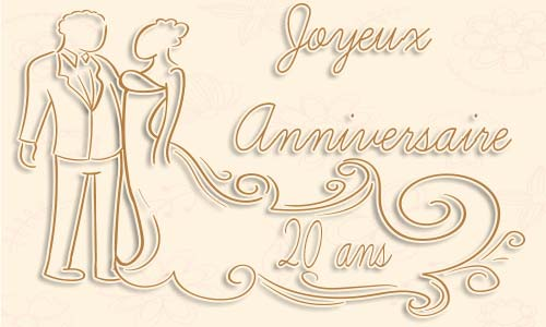 Gateau anniversaire de mariage 20 ans