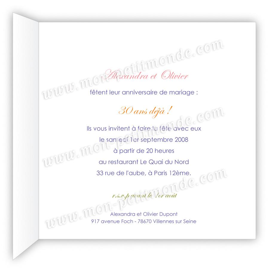 Poèmes anniversaire de mariage 30 ans