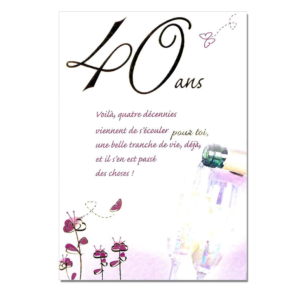 Idée texte anniversaire de mariage 40 ans