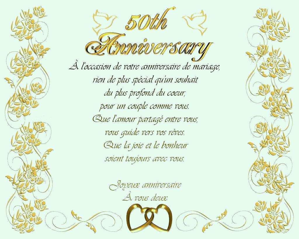 Image anniversaire 50 ans de mariage