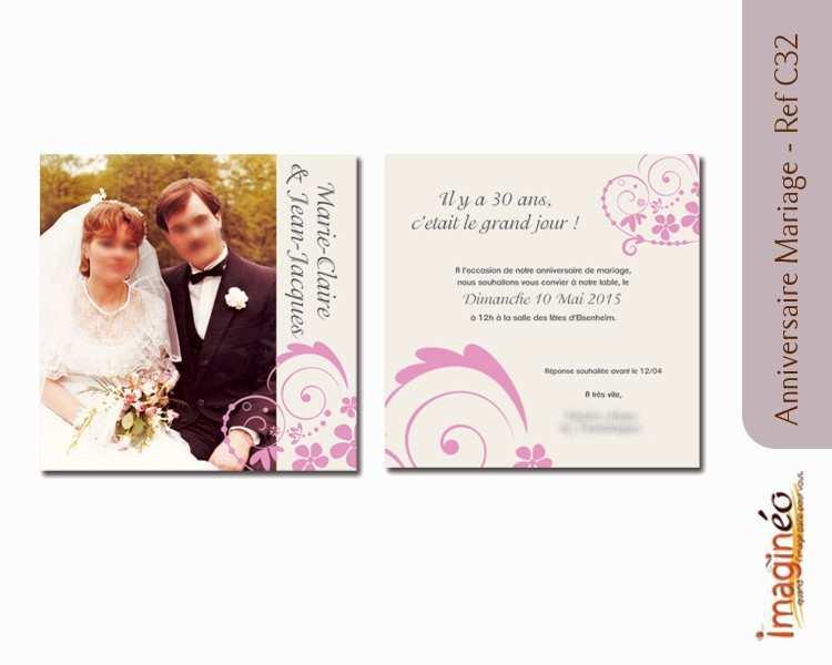 Carte anniversaire 25 ans de mariage gratuite a imprimer