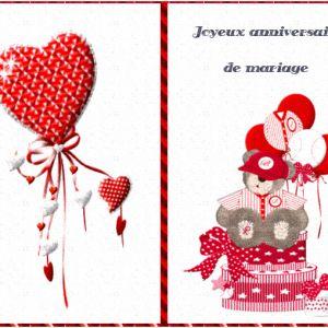 Carte anniversaire de mariage humoristique gratuite à imprimer
