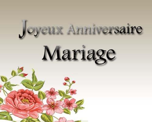 Joyeuses anniversaire de mariage