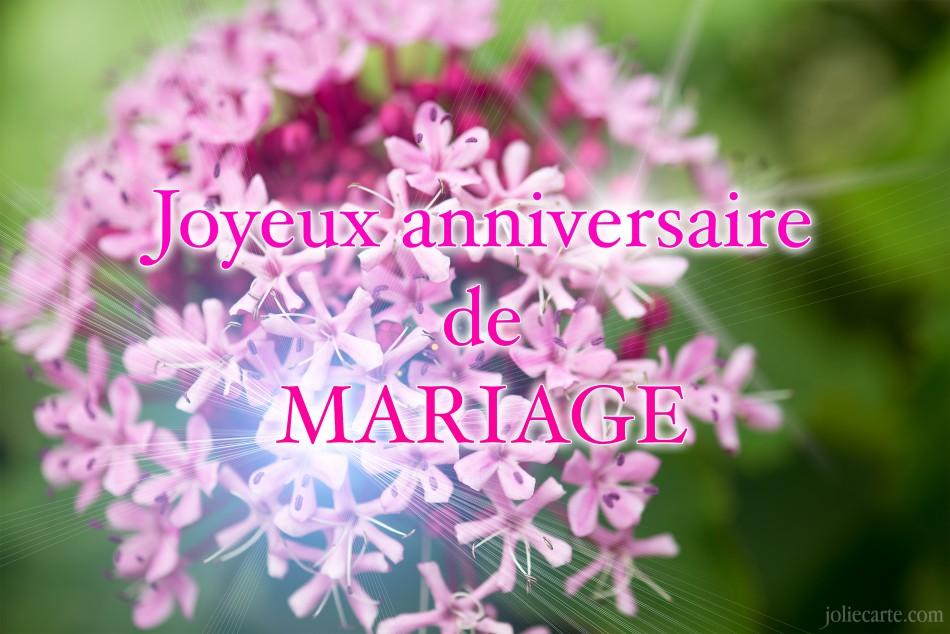 Carte anniversaire de mariage 2 ans