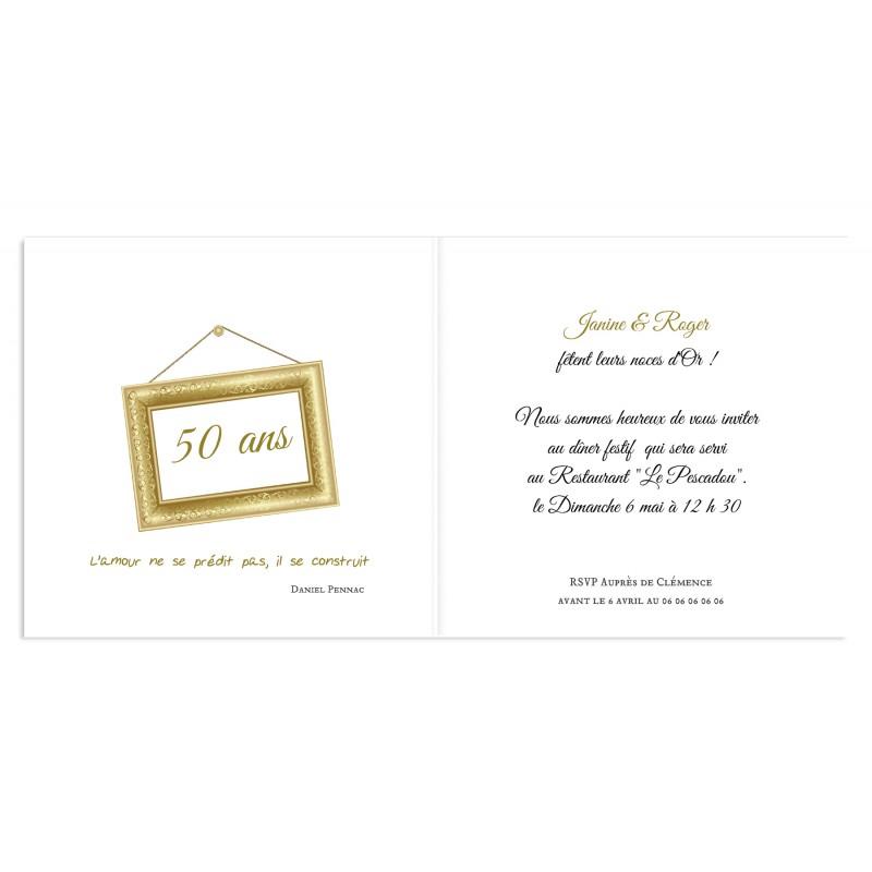 Exemple texte invitation anniversaire de mariage 50 ans