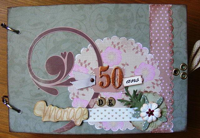 Carte anniversaire de mariage scrapbooking