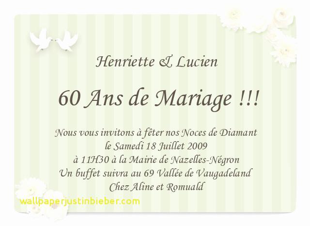 Lettre anniversaire 60 ans de mariage