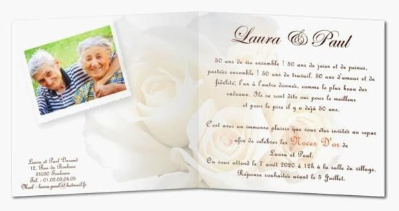 Texte d'invitation anniversaire de mariage 60 ans