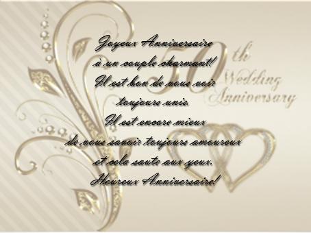 Mot pour anniversaire de mariage 50 ans