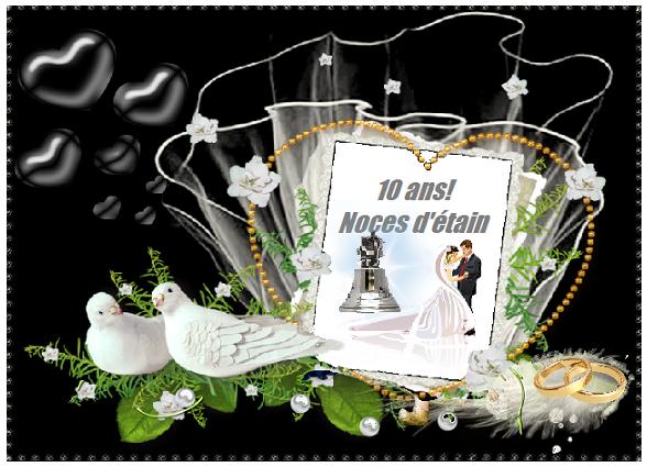 Joyeux anniversaire de mariage png