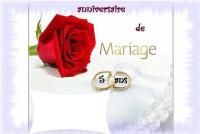 Texte pour anniversaire de mariage 5 ans