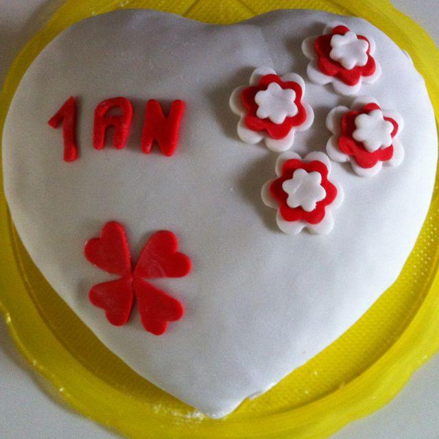Gâteau pour anniversaire de mariage