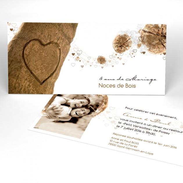 Idée carte invitation anniversaire de mariage