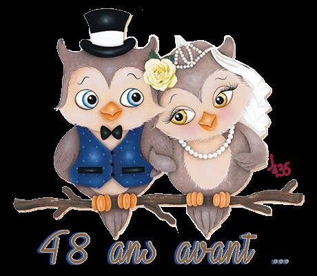 Anniversaire de 48 ans de mariage