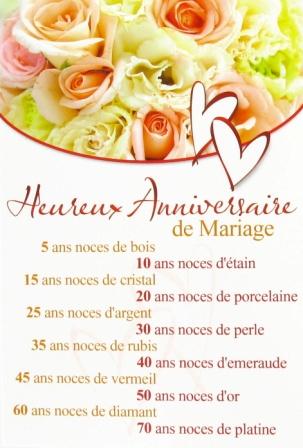 Carte anniversaire de mariage 70 ans