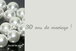 Texte anniversaire de mariage noce de perle